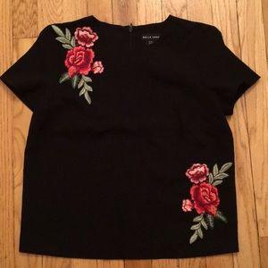 Belle Vere XS rose short sleeve black 🌹 trendy